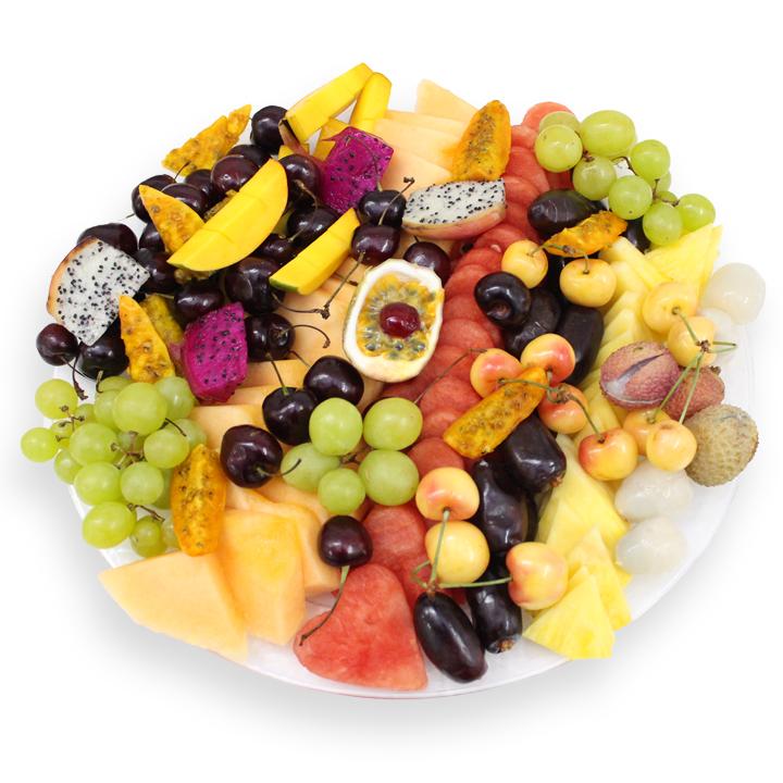 מגש פירות טרופיקני