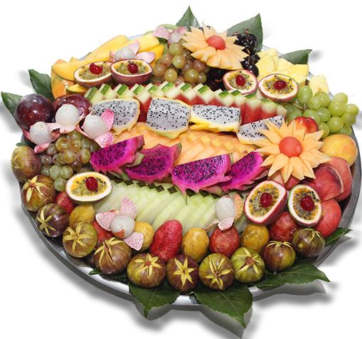 """מגש פירות טרופיקני- 50 ס""""מ"""