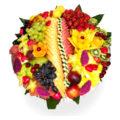 """מגש פירות טרופיקני- 45 ס""""מ"""